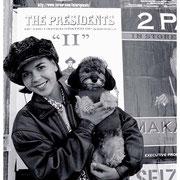 Dog and Pretty Girl, Alissa and Sammy, 9th Avenue, NYC 1996