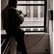 """Art Faces the Music"", Art Farmer (1928-1999), Riverside Drive Apartment, NYC 1993"