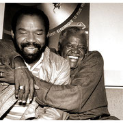 """Bear Hugs Between Takes"", Hubert Laws and Stanley Turrentine (1934-2000) Edison Recording Studios, NYC 1993"