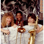 Burning Brass (Pam Fleming, Nilda Richards, Jenny Hill), Rooftop, Meat Packing District, NYC 1990