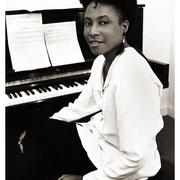 Geri Allen (1957–2017), Backstage, Carnegie Hall, NYC 1990