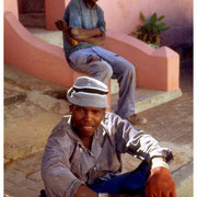 Young Workers Take a Break, Bo Kaap Section, Capetown, SA 2003