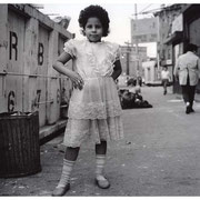 Child by Dumpster, Jersey Avenue, Jersey City, NJ 1987