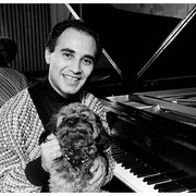 Michel Camilo with Sammy (Enid's beloved dog), Michel's Apartment, NYC 1989