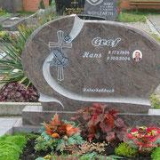 Doppelgrabstein Paradiso Friedhof Lehrberg