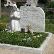 Doppelgrab griechischer Marmor Friedhof Lichtenau b. Ansbach