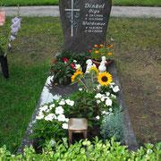 Einzelgrab Paradiso mit Teilabdeckung Waldfriedhof Ansbach