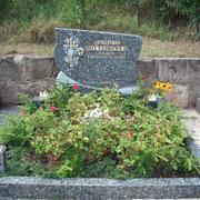 Doppelgrabstein Labrador Blue Pearl Freidhof Dietenhofen