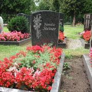 Einzelgrab Orion mit Steinradierung Friedhof Weihenzell
