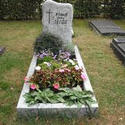 Einzelstein Wiscount white Waldfriedhof Ansbach