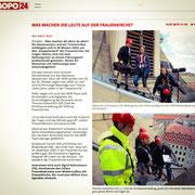 Artikel der Dresdner Morgenpost über die Dreharbeiten