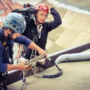 Inspektion auf dem Kuppeldach