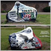 The Polk County Freedom Rock - Bondurant, Iowa