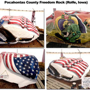 The Pocohontas County Freedom Rock - Rolfe, Iowa