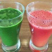 無農薬人参だけの甘いジュースと野菜ジュース