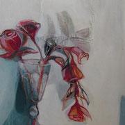 Blumenvase, 150cm x 80cm, Öl/ Leinwand