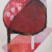 Roter Tisch, 150cm x 80cm, Öl/Leinwand