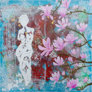 """Magnolien"" Acryl 80x80 SOLD"