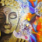 """Buddha"" Acryl 80x100 SOLD"