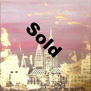 """Goldene Stadt1"" Acryl 40x40"