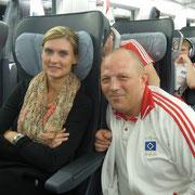 Janett und Zeugwart Mario Mosa