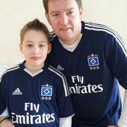 Axel Linneweber mit Sohn Kevin