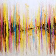 Reaktion 12, 120x60cm, Acryl auf Leinwand. Galeriekeilrahmen 02/2015
