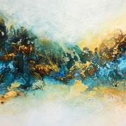 Im Morgengrauen 2, 120x60cm, Acryl, Sandstruktur auf Leinwand. Galeriekeilrahmen 03/2015