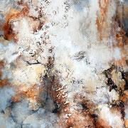 Especial, 200x100cm, Acryl, Sandstruktur, Kohle, Marmohrmehl, Kaffeesatz auf Leinwand. Galeriekeilrahmen 03/2015