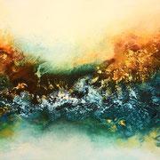 Im Morgengrauen, 120x60cm, Acryl, Sandstruktur auf Leinwand. Galeriekeilrahmen 03/2015