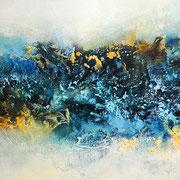 Die Quelle des Lebens 2, 120x60cm, Acryl, Sandstruktur auf Leinwand. Galeriekeilrahmen 04/2015