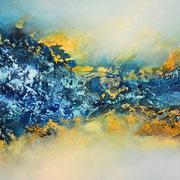 Die Quelle des Lebens, 120x60cm, Acryl, Sandstruktur auf Leinwand. Galeriekeilrahmen 04/2015