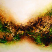 Viriditas 2, 120x60cm, Acryl, Sandstruktur auf Leinwand. Galeriekeilrahmen 02/2015
