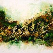 Viriditas, 120x60cm, Acryl, Sandstruktur auf Leinwand. Galeriekeilrahmen 02/2015