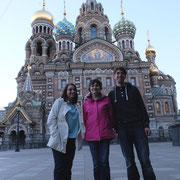 Маша, Настя и Маттиас в Питере