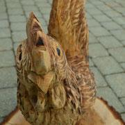 Schnitzen mit der Motorsäge by Allgäu-Carving - Hahn