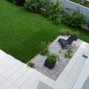 Garten und Terrasse, Kies