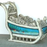 trineo decoración azul