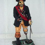 pirata con garfio y pata de palo