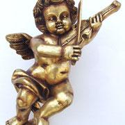 ángel en oro de pared con violín