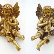 ángeles con bandeja de frutas