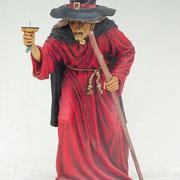 bruja de pie roja