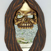cabeza de la muerte con espejo