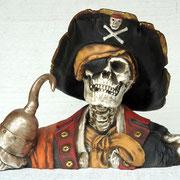 cabeza esqueleto capitán garfio