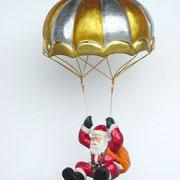 santa claus en paracaídas