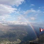 Regenbogen über Sölden