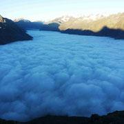 Wolkenteppich nach Vent