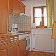 Küche in Ferienwohnung 4