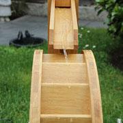 Kleines Wasserrad, auch für den Innenbereich, im Detail