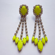 Neon Yellow Crystal Earrings CHF 49 - SOLD